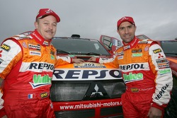 Team Repsol Mitsubishi Ralliart shakedown presentation: Jean-Paul Cottret and Stéphane Peterhansel