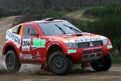 Team Repsol Mitsubishi Ralliart shakedown: Nani Roma and Lucas Cruz Senra test the Mitsubishi Pajero / Montero Evolution MPR13