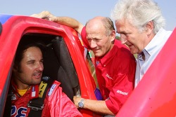 Team Dessoude test in Le Galicet: Yvan Muller, André Dessoude and Hugues de Chaunac