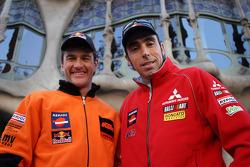 Team Repsol presentation in Barcelona: Marc Coma and Nani Roma