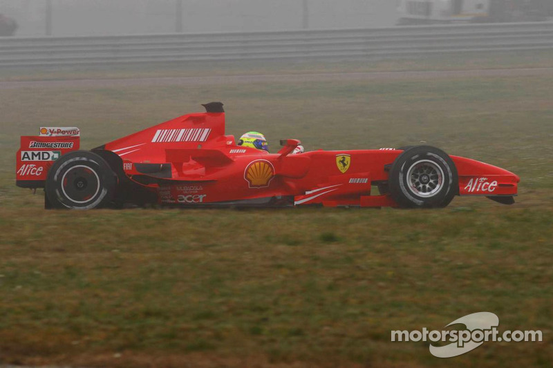 Felipe Massa tests the new Ferrari F2007