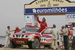 Car category podium: Yvan Muller and René Metge
