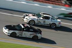#131 GT Racing Hyundai Tiburon: Jean-Philippe Papineau, Simon Dion-Viens and #6 Blackforest Motorsports Mustang GT: Stan Wilson, Chris Brannon