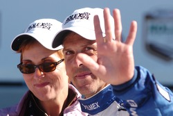 DP Podium: Winner Scott Pruett celebrates