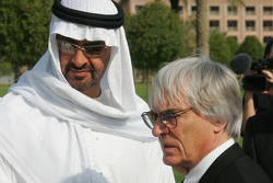 His Highness Sheikh Mohammed Bin Zayed Al Nahayan and Bernie Ecclestone