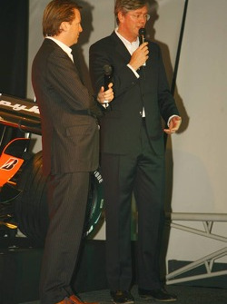 Michiel Mol, Director of Formula One Racing, Spyker and Spyker F1 Team and Victor Muller, Chief Executive Officer of Spyker Cars N.V. and Spyker F1 Team