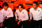 Adrian Valles, Markus Winkelhock and Giedo van der Garde
