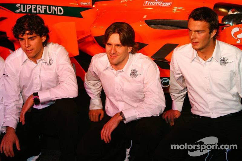 Adrian Valles, Markus Winkelhock and Giedo van der Garde