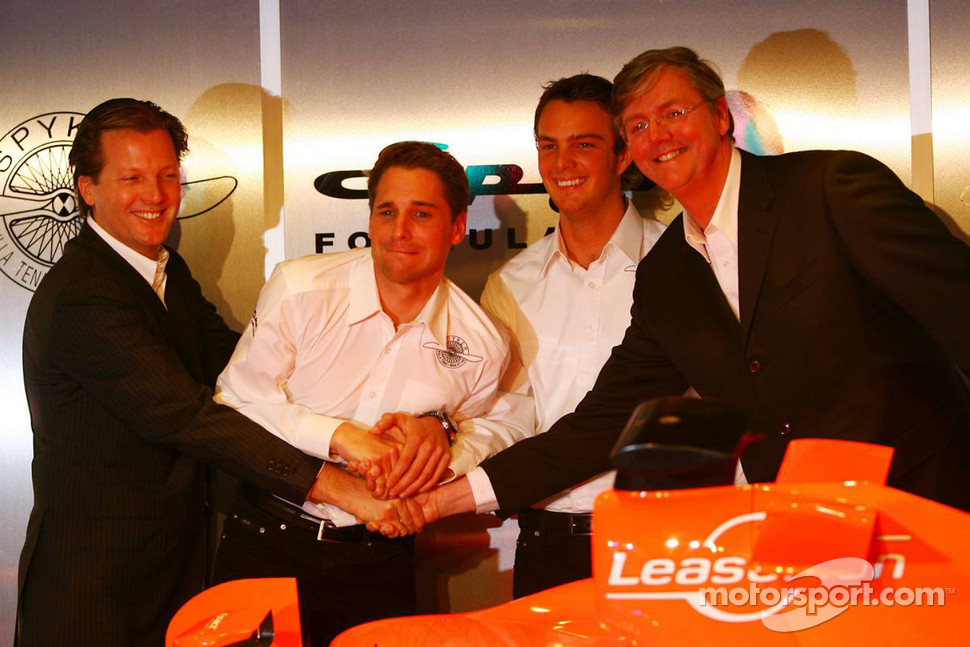 Michiel Mol, Christijan Albers, Giedo van der Garde and Victor Muller