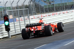 Christijan Albers tests the 2007 Spyker-Ferrari F8-VII