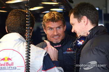 Guillaume Roquelien, David Coulthard and chief engineer Paul Monaghan