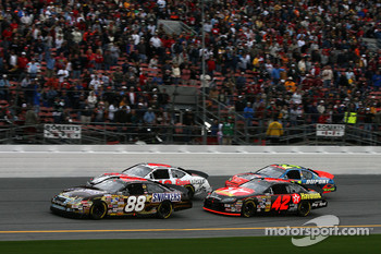 Start: Ricky Rudd, David Stremme, Juan Pablo Montoya and Jeff Gordon