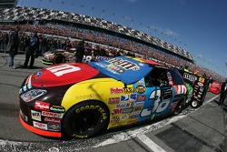 The pole winning car of David Gilliland on the starting grid