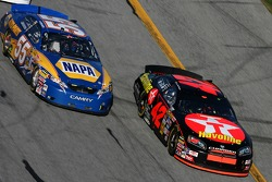 Juan Pablo Montoya and Michael Waltrip