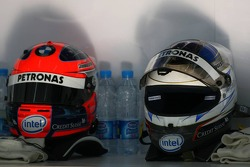 Helmets of Robert Kubica and Nick Heidfeld