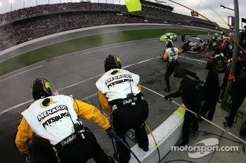 Menards Chevy crew members ready for a pitstop