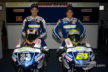 Team Gresini: Marco Melandri and Toni Elias