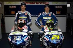 Team Gresini: Marco Melandri and Toni Elias