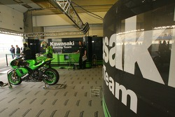 Kawasaki Racing Team pitbox