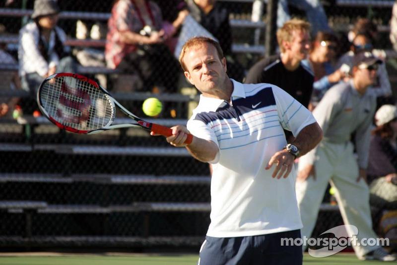 Formula One drivers charity tennis match: Rubens Barrichello, Honda F1 Team