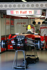 Ralf Schumacher, Toyota Racing, Pit Garage