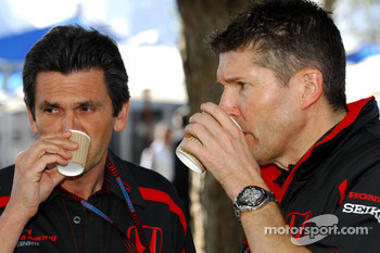 Nick Fry, Honda Racing F1 Team, Chief Executive Officer and Jacky Eeckelaert, Honda Racing F1 Team, Chief Engineer  Advanced Research Programmes