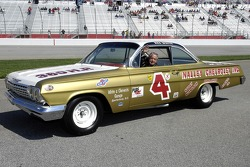 1960 NASCAR Grand National Champion Rex White in a replica of his 1962 Chevy Impala Impala