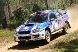 Matthew Selley and Joana Fuller in their Subaru Impreza WRX Sti