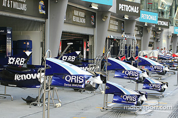 Williams F1 garage area
