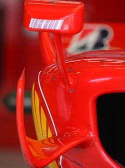 Ferrari Technical aero and wing mirror