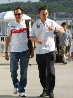 Franck Montagny, Test Driver, Toyota F1 Team and Robert Kubica,  BMW Sauber F1 Team