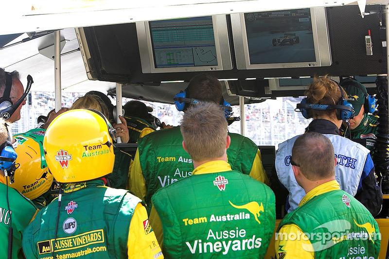 Team Australia pit area