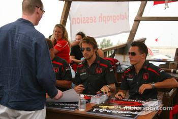 Autograph session: Jenson Button, Honda Racing F1 Team and Christian Klien, Test Driver, Honda Racing F1 Team