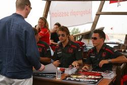 Autograph session: Jenson Button, Honda Racing F1 Team and Christian Klien, Test Driver, Honda Racing F1 Team