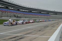 Dark clouds hang over Texas Motor Speedway as practice begins