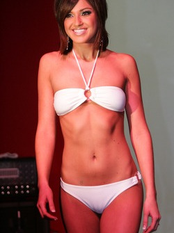 Miss Grand Prix of Houston bikini contest: a lovely contestant