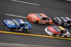 Kurt Busch, Tony Stewart and Elliott Sadler