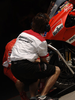 Ducati Marlboro team member at work