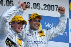 An English duo on the top position of the podium: Gary Paffett, Persson Motorsport AMG Mercedes and Paul di Resta, Persson Motorsport AMG Mercedes. A 1-2 victory for Persson Motorsport.