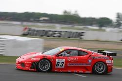 #63 Scuderia Ecosse Ferrari 430 GT2: Chris Niarchos, Nigel Mansell