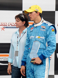 Second place Graham Rahal and mother Debi