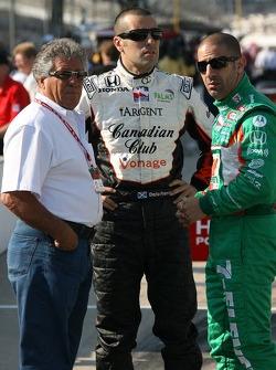 Mario Andretti, Dario Franchitti and Tony Kanaan