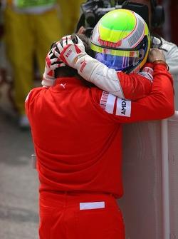 Race winner Felipe Massa celebrates with Jean Todt