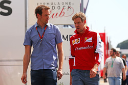(L to R): Alexander Wurz, Williams Driver Mentor with Sebastian Vettel, Ferrari