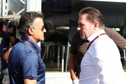 Jean Alesi and Jos Verstappen