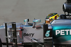 Pascal Wehrlein, Mercedes AMG F1 W06 Reserve Driver running sensor equipment