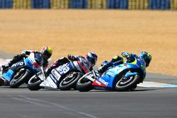 Maverick Viñales, Team Suzuki MotoGP and Mike Di Meglio, Avintia Racing Ducati and Alex de Angelis, Ioda Racing Project ART