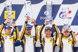 Podium: second place #25 Marc VDS Racing BMW Z4 GT3: Maxime Martin, Lucas Luhr, Markus Palttala, Richard Westbrook