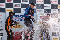 TC podium: race winner Corey Fergus, second place Ernie Francis Jr., third place Adam Poland