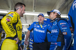 Austin Dillon, Richard Childress Racing Chevrolet and Ricky Stenhouse Jr., Roush Fenway Racing Ford with crew chief Mike Kelley
